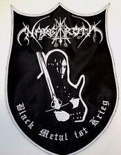 NARGAROTH BLACK METAL IST KRIEG  EMBROIDERED BACK PATCH