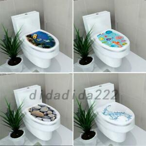 Toilet Tattoos Seat Decal Sticker Home DIY Sticker for Toilet Lid 39x32cm #1