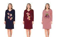 Ladies Night shirt Nightdress Nightie Nightshirt  Size 16-18 Long Sleeve Seconds