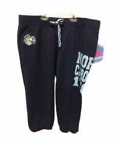 North Carolina Tar Heels 1789 Graphic Capri Sweatpants w Bling, Dark Blue, Large
