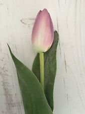 3 stems of silk tulip mauve