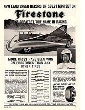 1965 ART ARFONS GREEN MONSTER @ BONNEVILLE  ~  ORIGINAL FIRESTONE AD