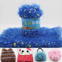 50g Soft Plush Crochet Yarn Long Hand Knitting Thread Milk Yarn Ball DIY