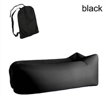 Inflatable Air Lounger Bag Lazy Chair AirBed Beach Sofa Bed Outdoor Black