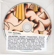 (GX707) Syd Matters, Hi Life - 2010 DJ CD