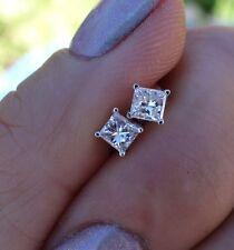 .56ct princess stud earring 14k WG