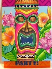 Tiki Island Tiki Party Invitations 8 Cards w Envelopes Luau Beach Party Supply