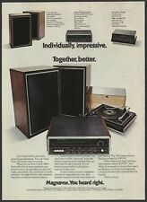 MAGNAVOX High Performance Stereo  System  1973 Vintage Print Ad