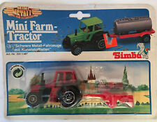 Simba Welly Mini Metals Farm Tractor Red New in Package