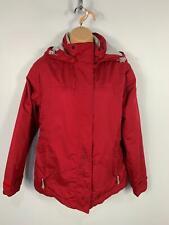 WOMEN TARGET DRY BERRY RED PADDED WINTER CASUAL RAIN COAT HOOD JACKET SIZE UK 12