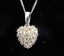 Beauty White Gold SI2 Fine Diamond Necklaces & Pendants