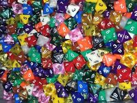 HDDice (5) D8 Random Color Pearl Solid Translucent Polyhedral Dice Lot 8 Side