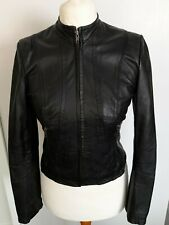 NEXT - Biker Style REAL LEATHER Jacket Black Size 8 - STUNNING