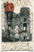 CPA - Carte postale-France- Côte Saint André - Les Ruines de Bressieux - 1907 (C