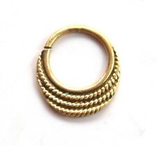 Tribal Septum Ring Pierced Brass Body Jewellery Sleeper Gypsy Boho