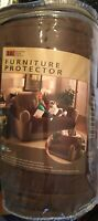 "ITS FURNITURE PROTECTOR brown Loveseat Microfiber Pets 88"" By 75.5"" NEW NWT"