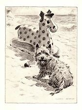 1946 Antique Cairn Terrier Dog Print Gallery Wall Art Dog Lover Gift 2314