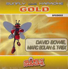 SUNFLY Karaoke Gold Series David Bowie Marc Bolan & T Rex CD G