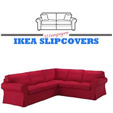Ikea EKTORP COVER SLIPCOVER FOR 4 Seat Corner Sectional Sofa NORDVALLA RED NEW