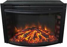 "Camfpm CAM25CINS-1BLK 25"" Curved Standalone Fireplace Insert (cam25cins1blk)"