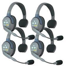Eartec UltraLITE 4 user, Hands Free Intercom System - Single Ear Headsets