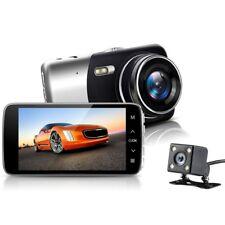 4'' Dual Lens FHD 1080P Auto Kamera 170° Rearview Dashcam Car DVR Video Recorder