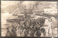 1915 Germany Marine feldpost Picture Postcard Cover U9 Boat Submarine