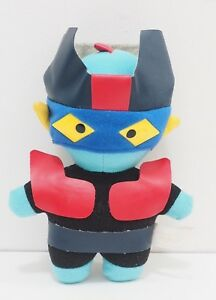 "Mazinger Z Robot Go Nagai Vintage Anime Banpresto Plush 7"" 1991 Toy Doll Japan"