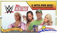 2018 Topps WWE Heritage Wrestling Factory Sealed HOBBY Box-2 HITS-AUTOGRAPH!