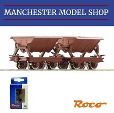 Roco 34498 HOe 1:87 mine side tipping wagons 2 piece set 009 9mm gauge NEW BOXED