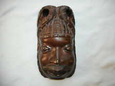 Vintage Collectable Wood Carved  Tribal Face Mask