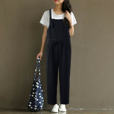 UK Womens Sleeveless Strappy Jumpsuits Harem Pants Ladies Playsuits Overalls