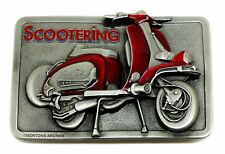 Lambretta Belt Buckle Scooter Design Red Authentic Officially Licensed Product