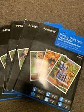 "4 Packs Of POLAROID PREMIUM GLOSSY PHOTO PAPER All Ink Jet Printers 8.5 "" x 11"""
