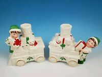 LENOX Santa's Holiday Toy Shop Train Candle Holder's