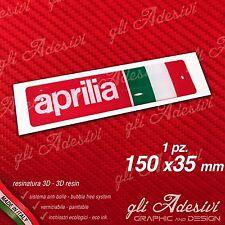 1 Adesivo Resinato Sticker 3D APRILIA Racing Italia 150 mm.