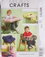BABY ACCESSORIES SHOPPING CART COVER McCalls Sewing Pattern 5721 NEW