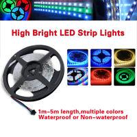 1/5M 3528/5050 SMD 60/300 Flexible Bande LED Lumière Lampe 12V Fête de Noël D72