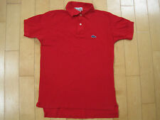 COOL!! 80s vtg RED LACOSTE IZOD alligator red POLO SHIRT youth large
