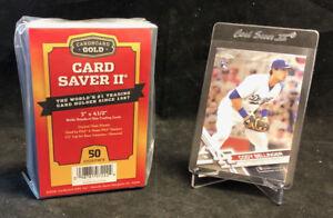 50 Ct Card Saver II Cardboard Gold PSA Graded Semi Rigid Holders BRAND NEW CS 2