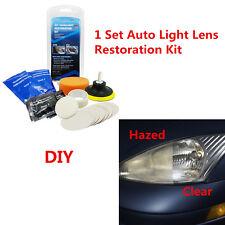 Car Truck Headlight Lens Polish Restoration Kit Light Cover Haze Removal Tool