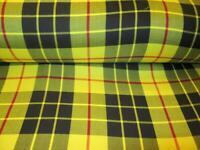 FREE SHIPPING  BY 5 YARDS ~ MacLeod Of Lewis tartan plaid fabric Yellow Black