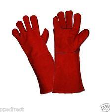 Red Welders / Welding gloves gauntlets