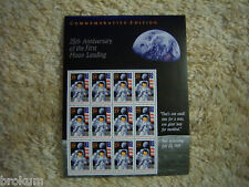 25th Annivers First Moon Landing Full Pane Stamps #2841