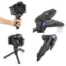 2in1 Table Mini Portable Folding Tripod Stand + Hand Grip for DC DSLR SLR Camera