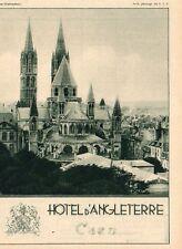CAEN HOTEL D ANGLETERRE PUBLICITE 1931 AD