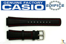 CASIO Edifice EFA-120L-1A1V 17mm Original Black Leather Watch Band w/ 2 pins