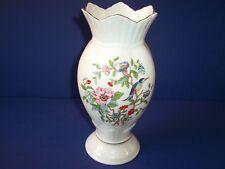 """Aynsley Bone China Pembroke Large Footed Flower Vase England Bird 9"""" Retired"""