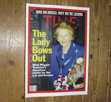 Margaret Thatcher Bows Out Repro POSTER