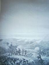 Gravure 19° Guerre révolution Bataille de la Muga Ligne espagnole 1794